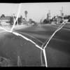 Skid marks on East 4th Street Bridge, Los Angeles, CA, 1936