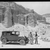 Chevrolet at petrified forest near Mojave, Southern California, 1927