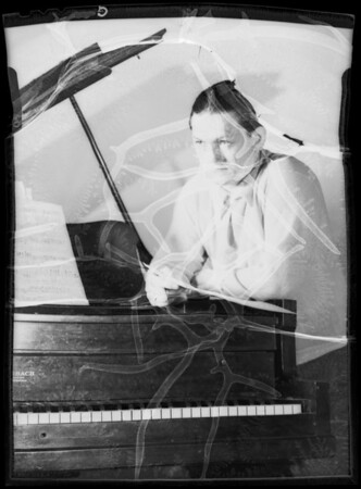 Victor Young at studio, Southern California, 1935