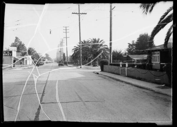 Intersection of North Las Palmas Avenue and Lexington Avenue, Los Angeles, CA, 1935