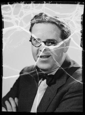Dick Connor portrait, Southern California, 1935