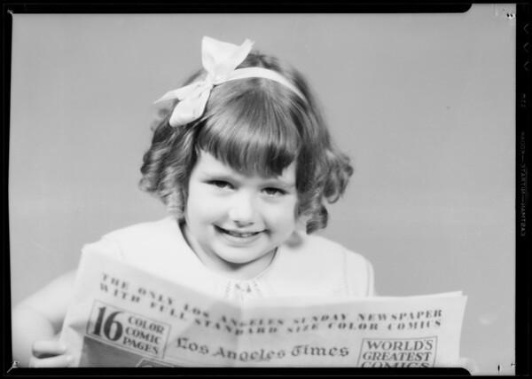 """I like the Times Funnys"", Southern California, 1935"