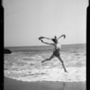 Girl in surf, Southern California, 1935
