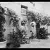Flowers at funeral parlor and mausoleum, Mrs. Lee, deceased, Southern California, 1935
