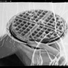 """""""We Want Waffles"""" and plate of waffles, Southern California, 1935"""