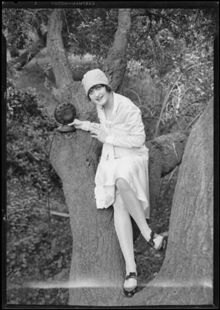 Magnolia Park publicity with Billie Barnes, Burbank, CA, 1927