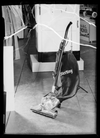 Refrigerator, lawn mower, Southern California, 1936