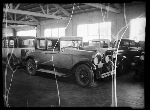 Buick sedan, Mr. Hunt owner and assured, Southern California, 1935
