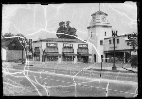 Intersection of San Fernando Road and Grover Avenue, Glendale, CA, 1936
