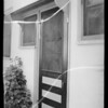 Screen door at 5630 La Mirada Avenue, Los Angeles, CA, 1935