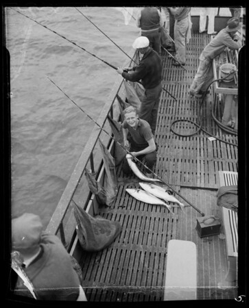Deep sea fishing, Southern California, 1936
