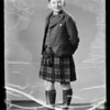 Son in kilt outfit, Southern California, 1936