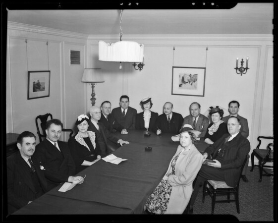 Group of new executives, Los Angeles, CA, 1940