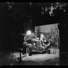 Shooting snow scene at studio, Ford and Santa Claus, Southern California, 1935