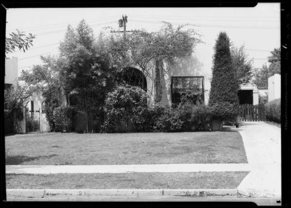 Residence at 931 North Sierra Bonita Avenue, West Hollywood, CA, 1935