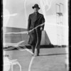 Man in overcoat, Southern California, 1935
