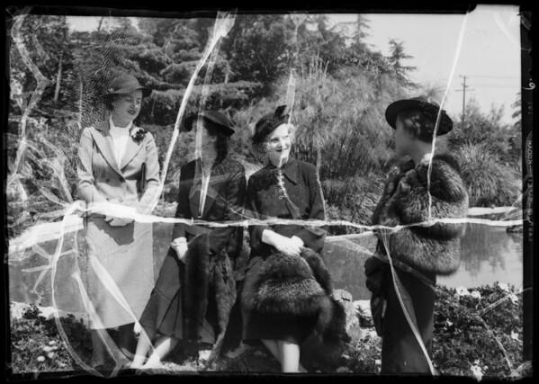 Vaudeville players, Tea Dance publicity, Southern California, 1936