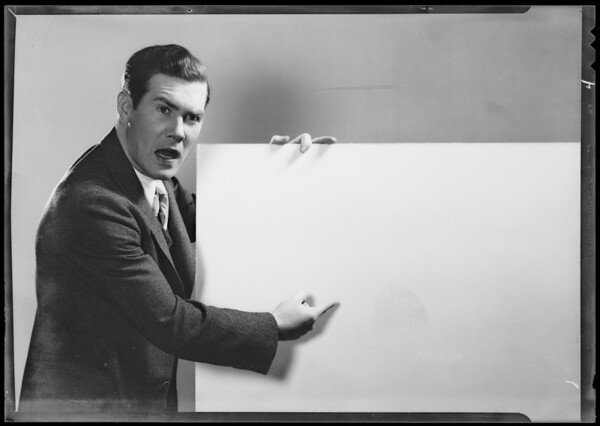 Lawyer presenting his case, Southern California, 1935