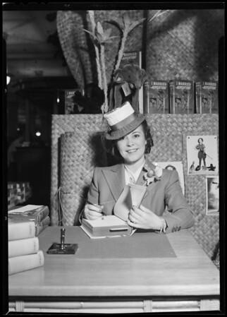 Author Asa Johnson, Southern California, 1940