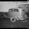 Wrecked 1933 Plymouth, Coast Auto Works, 1358 North Western Avenue, Los Angeles, CA, 1940