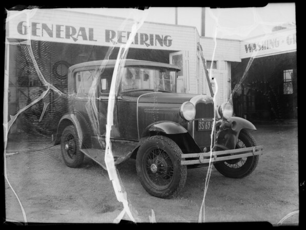 Ford, Mrs. Kelley, owner, Mox Wrecking Co., assured, Southern California, 1935