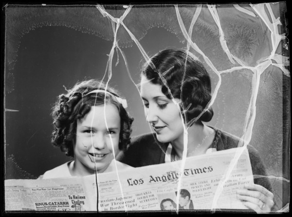 """""""We're housemakers, we read the Times women's page"""", Los Angeles Times, Southern California, 1935"""