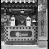 Mission Orange stand at 7th Street & Broadway, Los Angeles, CA, 1927