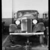 Wrecked Chevrolet coach, Southern California, 1935