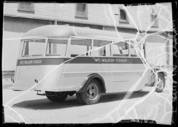 Mt. Wilson Coach, Southern California, 1935