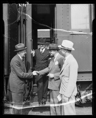Arrival of Mr. Resor, Southern California, 1936