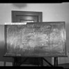 Blackboard of Dunlap vs. Maloney, Los Angeles, CA, 1940