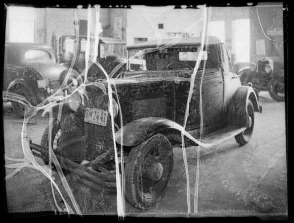 Goldman Chevrolet at 1910 Crenshaw, West Adams Boulevard and Hillcrest Drive, Los Angeles, CA, 1936