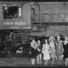 Departure of 63 hour Union Pacific train to Chicago, Southern California, 1926