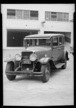 1929 La Salle sedan, John W. Young, owner & assured, Southern California, 1935