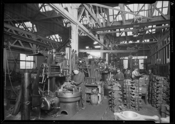 Drop forge at Western Drop Forge, Southern California, 1926