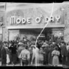 Opening day, Mode O'Day, Southern California, 1935