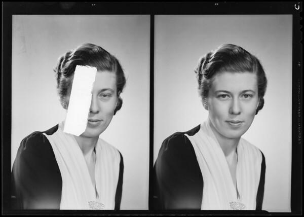 Portrait, Lucille Richardson, Southern California, 1940