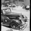 Finger marks on Buick sedan owned and insured by Mr. Lew, Southern California, 1935