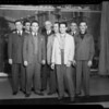 """Group of men being """"televised"""", Southern California, 1940"""