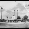 Station at West Adams Boulevard and Hoover Street, Los Angeles, CA, 1935