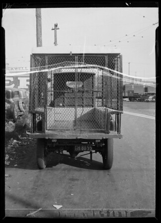 Young's Market truck, Southern California, 1935