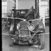 Wrecked Ford at 4606 West Adams Boulevard, wrecked & burned Chrysler at 6245 Lexington Avenue, Hal LeSueur assured, Los Angeles, CA, 1935