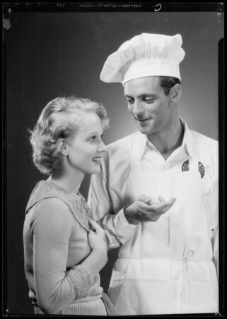 Helms salesman & girl, Jim Milcoy & Elaine Shepard, Southern California, 1935