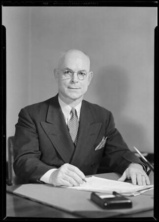 Portrait of Mr. R.J. Chrisman, Southern California, 1940
