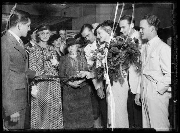 Opening of radio department, Southern California, 1935