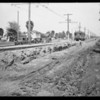 Lowering tracks on Santa Barbara and Leimert Park, Los Angeles, CA, 1927