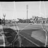 Case of Mrs. E. F. Grimen vs McSherea, deceased, intersection of Whittier Boulevard and South Ford Boulevard, Southern California, 1936