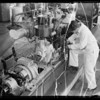 Students working on diesel motors, Southern California, 1935
