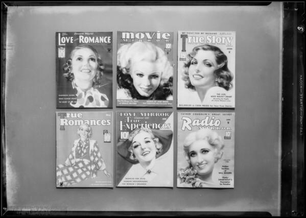 Magazine cover etc., Sunkist, Southern California, 1935