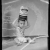 Baby with Triton can, Southern California, 1935